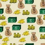 Fondo senza cuciture delle icone di finanza Immagine Stock Libera da Diritti