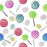 Fondo senza cuciture delle lecca-lecca colorate multi Fotografia Stock