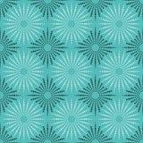 Fondo senza cuciture delle mattonelle di struttura verde, bianca e nera del tessuto Fotografia Stock