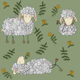 Fondo senza cuciture delle pecore felici royalty illustrazione gratis