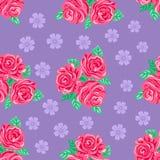Fondo senza cuciture delle rose rosa royalty illustrazione gratis