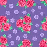 Fondo senza cuciture delle rose rosa illustrazione di stock