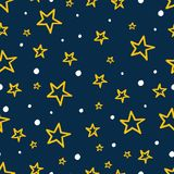Fondo senza cuciture delle stelle dei bambini Fotografia Stock