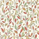 Fondo senza cuciture di autunno con un modello delle foglie illustrazione vettoriale