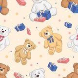 Fondo senza cuciture di colore dell'orsacchiotto illustrazione vettoriale