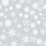 Fondo senza cuciture di inverno con i fiocchi di neve Fotografia Stock