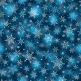 Fondo senza cuciture di inverno - illustrazione del modello dei fiocchi di neve Fotografie Stock Libere da Diritti
