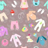 Fondo senza cuciture di nascita della doccia di bambino Fotografia Stock Libera da Diritti