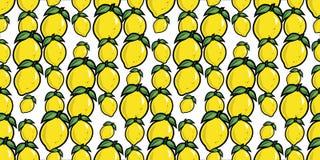 Fondo senza cuciture di ripetizione dei limoni casuali Fotografia Stock