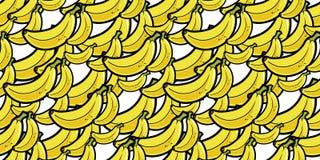 Fondo senza cuciture di ripetizione della banana casuale Immagini Stock Libere da Diritti