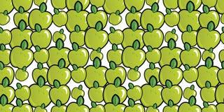 Fondo senza cuciture di ripetizione della mela casuale Fotografia Stock Libera da Diritti