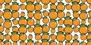 Fondo senza cuciture di ripetizione delle arance casuali Immagini Stock Libere da Diritti