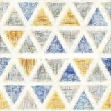 Fondo senza cuciture di stile di colore di acqua del triangolo illustrazione vettoriale