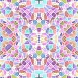 Fondo senza cuciture di struttura del caleidoscopio del mosaico - multi pastello dolce colorato con malta liquida bianca Fotografia Stock