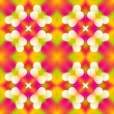Fondo senza cuciture di struttura del caleidoscopio del mosaico - evidenzi il rosa, il rosso, l'arancia ed il verde colorati con  Immagine Stock
