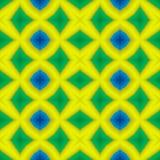 Fondo senza cuciture di struttura del caleidoscopio del mosaico - giallo vibrante, blu e verde colorati Fotografia Stock Libera da Diritti
