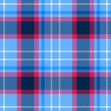 Fondo senza cuciture di struttura del modello del tessuto scozzese del plaid di tartan - blu di bambino pastello, rosa caldo e co Immagine Stock