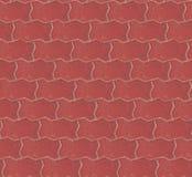 Fondo senza cuciture di struttura della pavimentazione del mattone rosso Disegno senza giunte della priorità bassa fotografia stock