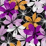 Fondo senza cuciture di vettore con i fiori del croco royalty illustrazione gratis