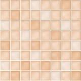 Fondo senza cuciture di vettore con le tessere beige Fotografie Stock Libere da Diritti