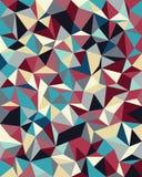 Fondo senza cuciture di vettore dalle cellule, triangoli Immagini Stock