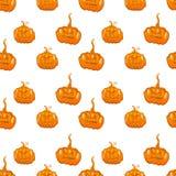 Fondo senza cuciture di vettore della zucca di Halloween Fotografia Stock Libera da Diritti