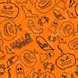 Fondo senza cuciture di vettore di Halloween Fotografia Stock Libera da Diritti