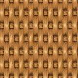 Fondo senza cuciture di vimini, canestro di legno strutturato Fotografia Stock Libera da Diritti