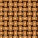 Fondo senza cuciture di vimini, canestro di legno strutturato Fotografia Stock