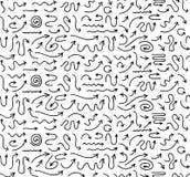 Fondo senza cuciture disegnato a mano delle frecce Illustrazione di Stock