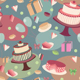 Fondo senza cuciture festivo con i dolci Immagini Stock