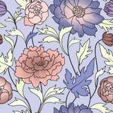 Fondo senza cuciture floreale del fiore del modello Ornamento floreale delle mattonelle royalty illustrazione gratis