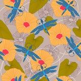 Fondo senza cuciture floreale di estate Illustrazione di vettore Royalty Illustrazione gratis