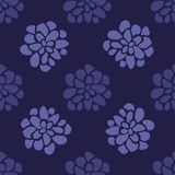 Fondo senza cuciture floreale disegnato a mano Immagine Stock