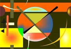 Fondo senza cuciture, forme geometriche variopinte sul nero 18-39 Illustrazione di Stock