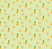 Fondo senza cuciture fresco della frutta dell'ananas del modello illustrazione di stock