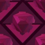 Fondo senza cuciture geometrico 3D Illustrazione Vettoriale
