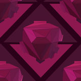 Fondo senza cuciture geometrico 3D Immagini Stock