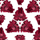 Fondo senza cuciture geometrico 3D Fotografia Stock Libera da Diritti
