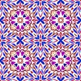 Fondo senza cuciture geometrico dell'acquerello macchie, gocciolamenti, acquerello trascurato Illustrazione Handmade immagine stock