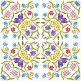 Fondo senza cuciture geometrico floreale dell'acquerello macchie, gocciolamenti, acquerello trascurato Illustrazione Handmade fotografie stock libere da diritti