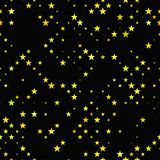 Fondo senza cuciture giallo del motivo a stelle del pentagramma Fotografie Stock Libere da Diritti