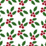 Fondo senza cuciture Holly Berries Immagine Stock
