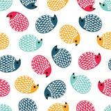 Fondo senza cuciture istrici colorati su un fondo bianco Fotografia Stock