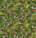 Fondo senza cuciture naturale decorativo dei colori viola ed arancio verdi Immagini Stock Libere da Diritti