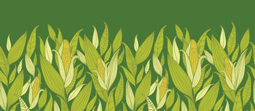 Fondo senza cuciture orizzontale del modello delle piante di cereale illustrazione di stock