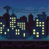 Fondo senza cuciture Paesaggio della città per progettazione del gioco Fotografia Stock