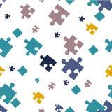 Fondo senza cuciture Puzzle illustrazione vettoriale