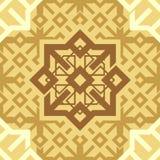 Fondo senza cuciture ripetitivo di vettore di struttura delle mattonelle del modello di Brown del caffè del cappuccino dell'ornam illustrazione vettoriale