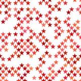 Fondo senza cuciture rosso del motivo a stelle del pentagramma - vector la progettazione Fotografia Stock Libera da Diritti
